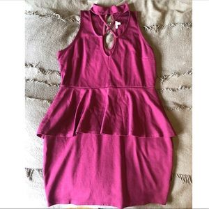 Charlotte Russe Peplum Bodycon Dress